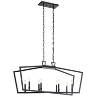Kichler 43494BK Abbotswell 8 Light 13 inch Black Chandelier Ceiling Light