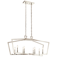 Kichler 43494PN Abbotswell 8 Light 13 inch Polished Nickel Chandelier Ceiling Light