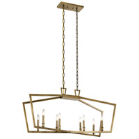 Kichler 43494NBR Abbotswell 8 Light 13 inch Natural Brass Chandelier Linear Ceiling Light Single