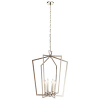 Kichler 43495PN Abbotswell 6 Light 25 inch Polished Nickel Foyer Pendant Ceiling Light, Large