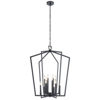 Kichler 43496BK Abbotswell 12 Light 30 inch Black Chandelier Ceiling Light