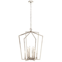 Kichler 43496PN Abbotswell 12 Light 30 inch Polished Nickel Chandelier Foyer Ceiling Light