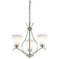 Kichler 43503NI Keiran 3 Light 21 inch Brushed Nickel Chandelier Ceiling Light