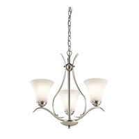 Keiran LED 21 inch Brushed Nickel Chandelier Ceiling Light, Small