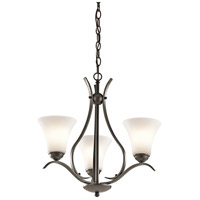 Kichler 43503OZ Keiran 3 Light 21 inch Olde Bronze Chandelier Ceiling Light