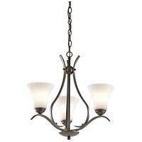Kichler 43503OZL18 Keiran LED 21 inch Olde Bronze Chandelier Ceiling Light Small