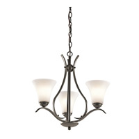 Kichler 43503OZL16 Keiran LED 21 inch Olde Bronze Chandelier Ceiling Light, Small