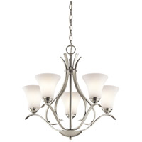 Kichler Keiran 5 Light Chandelier in Brushed Nickel 43504NI
