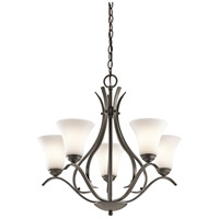 Kichler 43504OZ Keiran 5 Light 25 inch Olde Bronze Chandelier Ceiling Light