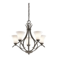 Kichler 43504OZL16 Keiran LED 25 inch Olde Bronze Chandelier Ceiling Light, Medium