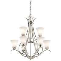 Kichler Keiran 9 Light Chandelier in Brushed Nickel 43506NI