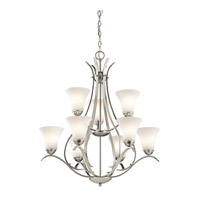 Kichler 43506NI Keiran 9 Light 29 inch Brushed Nickel Chandelier Ceiling Light alternative photo thumbnail