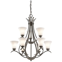 Kichler 43506OZ Keiran 9 Light 29 inch Olde Bronze Chandelier Ceiling Light