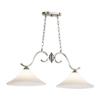 Kichler Keiran 2 Light Island Light in Brushed Nickel 43508NI