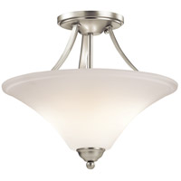 Keiran 2 Light 15 inch Brushed Nickel Semi-Flush Ceiling Light