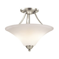 Keiran LED 15 inch Brushed Nickel Semi Flush Mount Ceiling Light