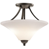Keiran 2 Light 15 inch Olde Bronze Semi-Flush Ceiling Light