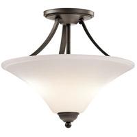 Kichler 43512OZ Keiran 2 Light 15 inch Olde Bronze Semi-Flush Ceiling Light