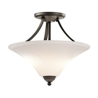 Kichler 43512OZL16 Keiran LED 15 inch Olde Bronze Semi Flush Mount Ceiling Light