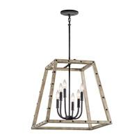 Kichler 43520DAG Basford 6 Light 21 inch Distressed Antique Gray Indoor Lantern Pendant Ceiling Light