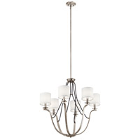 Kichler 43532CLP Thisbe 6 Light 28 inch Classic Pewter Chandelier Ceiling Light