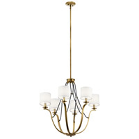 Kichler 43532NBR Thisbe 6 Light 28 inch Natural Brass Chandelier Ceiling Light