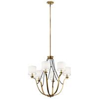 Kichler 43532NBR Thisbe 6 Light 28 inch Natural Brass Chandelier Ceiling Light