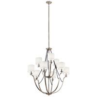 Kichler 43534CLP Thisbe 9 Light 33 inch Classic Pewter Chandelier Ceiling Light, 2 Tier