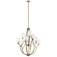 Kichler 43534NBR Thisbe 9 Light 33 inch Natural Brass Chandelier Ceiling Light, 2 Tier