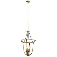 Kichler 43535NBR Thisbe 4 Light 18 inch Natural Brass Foyer Pendant Ceiling Light Large