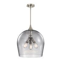 Kichler 43538NI Sloane 3 Light 16 inch Brushed Nickel Pendant Ceiling Light