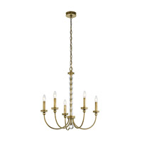 Rossington 5 Light 24 inch Natural Brass Chandelier Ceiling Light