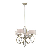 Casilda 4 Light 29 inch Sterling Gold Chandelier 1 Tier Large Ceiling Light