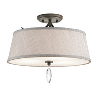 Kichler 43567OZ Casilda 3 Light 16 inch Olde Bronze Semi Flush Ceiling Light
