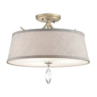 Casilda 3 Light 16 inch Sterling Gold Semi Flush Ceiling Light