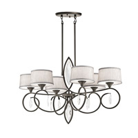Kichler 43569OZ Casilda 6 Light 23 inch Olde Bronze Chandelier Ceiling Light