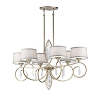 Casilda 6 Light 23 inch Sterling Gold Chandelier Ceiling Light