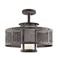 Kichler Argesto 1 Light Pendant in Weathered Zinc 43573WZC