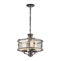 Kichler Ahrendale 3 Light Chandelier/Semi Flush in Anvil Iron 43581AVI