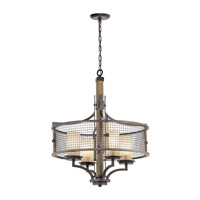 Kichler 43582AVI Ahrendale 4 Light 24 inch Anvil Iron Chandelier Round Pendant Ceiling Light