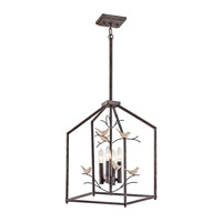 Kichler Tippi 4 Light Indoor Lantern Pendant in Rust 43588RT