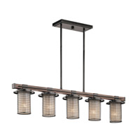 Kichler 43590AVI Ahrendale 5 Light 6 inch Anvil Iron Chandelier Ceiling Light