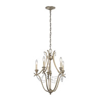Abellona 5 Light 18 inch Sterling Gold Mini Chandelier Ceiling Light