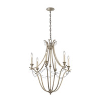 Abellona 6 Light 25 inch Sterling Gold Chandelier 1 Tier Medium Ceiling Light