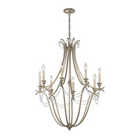Abellona 8 Light 30 inch Sterling Gold Chandelier 1 Tier Large Ceiling Light