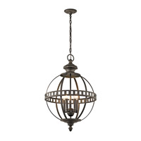 Kichler 43613OZ Halleron 5 Light 20 inch Olde Bronze Pendant Ceiling Light