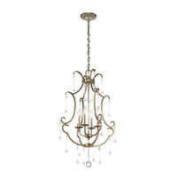 Kichler 43619SGD Shelsley 4 Light 20 inch Sterling Gold Foyer Chandelier Ceiling Light