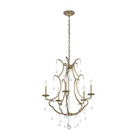 Kichler 43620SGD Shelsley 5 Light 27 inch Sterling Gold Chandelier Ceiling Light