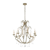 Shelsley 8 Light 36 inch Sterling Gold Chandelier Ceiling Light
