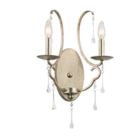 Kichler 43623SGD Shelsley 2 Light 12 inch Sterling Gold Wall Bracket Wall Light